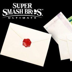 Nintendo Super Smash Bros. Letter Set w/ Seals